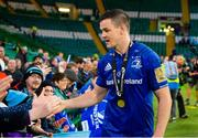 25 May 2019; Jonathan Sexton of Leinster greets fans after the Guinness PRO14 Final match between Leinster and Glasgow Warriors at Celtic Park in Glasgow, Scotland. Photo by Ross Parker/Sportsfile