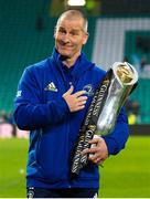 25 May 2019; Leinster coach Stuart Lancaster with the cup after the Guinness PRO14 Final match between Leinster and Glasgow Warriors at Celtic Park in Glasgow, Scotland. Photo by Ross Parker/Sportsfile