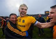 25 May 2019; Andrew Glennon of Roscommon celebrates following the Connacht GAA Football Senior Championship Semi-Final match between Mayo and Roscommon at Elverys MacHale Park in Castlebar, Mayo. Photo by Stephen McCarthy/Sportsfile