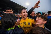 25 May 2019; Conor Daly of Roscommon is congratulated by supporters following the Connacht GAA Football Senior Championship Semi-Final match between Mayo and Roscommon at Elverys MacHale Park in Castlebar, Mayo. Photo by Stephen McCarthy/Sportsfile