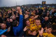 25 May 2019; Roscommon players and supporters celebrate following the Connacht GAA Football Senior Championship Semi-Final match between Mayo and Roscommon at Elverys MacHale Park in Castlebar, Mayo. Photo by Stephen McCarthy/Sportsfile