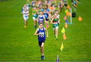 25 May 2019; Fionn McNamara of St Patricks, Co. Cavan, leads the field during the 1200m Cross Country during Day 1 of the Aldi Community Games May Festival, which saw over 3,500 children take part in a fun-filled weekend at the University of Limerick. Photo by Harry Murphy/Sportsfile