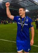 25 May 2019; Leinster captain Jonathan Sexton celebrates after the Guinness PRO14 Final match between Leinster and Glasgow Warriors at Celtic Park in Glasgow, Scotland. Photo by Ramsey Cardy/Sportsfile