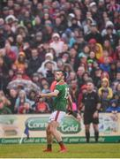 25 May 2019; Kevin McLoughlin of Mayo watches his free attempt during the Connacht GAA Football Senior Championship Semi-Final match between Mayo and Roscommon at Elverys MacHale Park in Castlebar, Mayo. Photo by Stephen McCarthy/Sportsfile