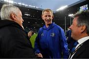 25 May 2019; Leinster head coach Leo Cullen celebrates with Frank Sowman, Chairman, Leinster Rugby, left, and Leinster Rugby CEO Mick Dawson after the Guinness PRO14 Final match between Leinster and Glasgow Warriors at Celtic Park in Glasgow, Scotland. Photo by Brendan Moran/Sportsfile