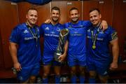 25 May 2019; Ed Byrne, Rob Kearney, Dave Kearney and Bryan Byrne of Leinster in the dressing room following the Guinness PRO14 Final match between Leinster and Glasgow Warriors at Celtic Park in Glasgow, Scotland. Photo by Ramsey Cardy/Sportsfile