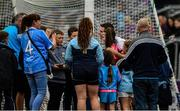 25 May 2019; The Dublin captain Stephen Cluxton poses for photographs with supporters after the Leinster GAA Football Senior Championship Quarter-Final match between Louth and Dublin at O'Moore Park in Portlaoise, Laois. he stayed on the pitch for almost twenty five minutes to facilitae many supporters.  Photo by Ray McManus/Sportsfile