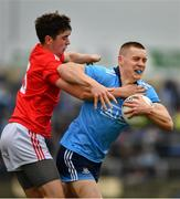 25 May 2019; Con O'Callaghan of Dublin in action against Emmet Carolan of Louth  during the Leinster GAA Football Senior Championship Quarter-Final match between Louth and Dublin at O'Moore Park in Portlaoise, Laois. Photo by Ray McManus/Sportsfile