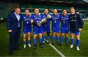 25 May 2019; Leinster players, from left, Jack McGrath, Seán Cronin, Cian Healy, Tadhg Furlong, Tadhg Furlong, Bryan Byrne and James Tracy following the Guinness PRO14 Final match between Leinster and Glasgow Warriors at Celtic Park in Glasgow, Scotland. Photo by Ramsey Cardy/Sportsfile