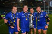 25 May 2019; Leinster players, from left, Cian Healy, Tadhg Furlong, Seán Cronin and Andrew Porter following the Guinness PRO14 Final match between Leinster and Glasgow Warriors at Celtic Park in Glasgow, Scotland. Photo by Ramsey Cardy/Sportsfile