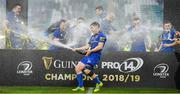 25 May 2019; Luke McGrath of Leinster celebrates after the Guinness PRO14 Final match between Leinster and Glasgow Warriors at Celtic Park in Glasgow, Scotland. Photo by Brendan Moran/Sportsfile