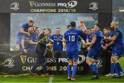 25 May 2019; Seán O'Brien of Leinster celebrates after the Guinness PRO14 Final match between Leinster and Glasgow Warriors at Celtic Park in Glasgow, Scotland. Photo by Brendan Moran/Sportsfile