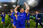 25 May 2019; Seán Cronin of Leinster celebrates at the final whistle of the Guinness PRO14 Final match between Leinster and Glasgow Warriors at Celtic Park in Glasgow, Scotland. Photo by Ramsey Cardy/Sportsfile