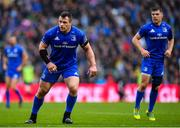 25 May 2019; Cian Healy, left, and Luke McGrath of Leinster during the Guinness PRO14 Final match between Leinster and Glasgow Warriors at Celtic Park in Glasgow, Scotland. Photo by Ramsey Cardy/Sportsfile