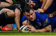 25 May 2019; Cian Healy of Leinster scores his side's second try during the Guinness PRO14 Final match between Leinster and Glasgow Warriors at Celtic Park in Glasgow, Scotland. Photo by Brendan Moran/Sportsfile