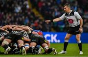 25 May 2019; Referee Nigel Owens during the Guinness PRO14 Final match between Leinster and Glasgow Warriors at Celtic Park in Glasgow, Scotland. Photo by Brendan Moran/Sportsfile