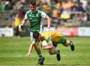 26 May 2019; Ryan McHugh of Donegal in action against Jonny Cassidy of Fermanagh during the Ulster GAA Football Senior Championship Quarter-Final match between Fermanagh and Donegal at Brewster Park in Enniskillen, Fermanagh. Photo by Oliver McVeigh/Sportsfile