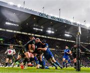 25 May 2019; Tommy Seymour and Stuart Hogg of Glasgow Warriors in action against Rob Kearney and Scott Fardy of Leinster during the Guinness PRO14 Final match between Leinster and Glasgow Warriors at Celtic Park in Glasgow, Scotland. Photo by Ramsey Cardy/Sportsfile