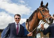 26 May 2019; Magical with trainer Aidan O'Brien after winning the Tattersalls Gold Cup (Group 1) at The Curragh Racecourse in Kildare. Photo by Barry Cregg/Sportsfile