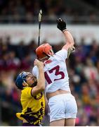 26 May 2019; Conor Whelan of Galway in action against Shaun Murphy of Wexford during the Leinster GAA Hurling Senior Championship Round 3A match between Galway and Wexford at Pearse Stadium in Galway. Photo by Stephen McCarthy/Sportsfile