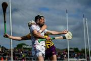 26 May 2019; Padraic Mannion of Galway in action against Rory O'Connor of Wexford during the Leinster GAA Hurling Senior Championship Round 3A match between Galway and Wexford at Pearse Stadium in Galway. Photo by Stephen McCarthy/Sportsfile