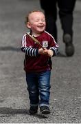 26 May 2019; Two-year-old Tommy Joyce, from Loughrea, Galway, prior to the Leinster GAA Hurling Senior Championship Round 3A match between Galway and Wexford at Pearse Stadium in Galway. Photo by Stephen McCarthy/Sportsfile