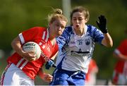 26 May 2019; Saoirse Noonan of Cork in action against Emma Gildea of Waterford of Waterford during the TG4 Munster Ladies Senior Football Championship Round 2 match between Cork and Waterford at Cork Institute of Technology in Cork. Photo by Eóin Noonan/Sportsfile