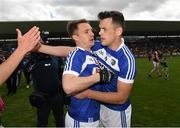 26 May 2019; Ross Munnelly and John O'Loughlin of Laois after the GAA Football Senior Championship Quarter-Final match between Westmeath and Laois at Bord na Mona O'Connor Park in Tullamore, Offaly. Photo by Ray McManus/Sportsfile