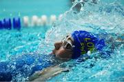 26 May 2019; Siobhan Leonard of Abbeylara - Mullinaghta, Co Longford, competing in the Backstroke U16 event during Day 2 of the Aldi Community Games May Festival, which saw over 3,500 children take part in a fun-filled weekend at University of Limerick. Photo by Piaras Ó Mídheach/Sportsfile