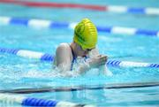 26 May 2019; Maeve O'Connor of Ballyshannon, Co Donegal, competing in the Breaststroke event during Day 2 of the Aldi Community Games May Festival, which saw over 3,500 children take part in a fun-filled weekend at University of Limerick. Photo by Piaras Ó Mídheach/Sportsfile