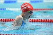 26 May 2019; Rebekah Friel of Blackrock - Haggardstown, Co Louth, competing in the Breaststroke event during Day 2 of the Aldi Community Games May Festival, which saw over 3,500 children take part in a fun-filled weekend at University of Limerick. Photo by Piaras Ó Mídheach/Sportsfile