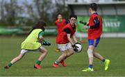 27 May 2019; James Kilroy of Ballaghaderreen?, Co Mayo, centre, during a football blitz at the John West Féile na Peil Regional Launch at Connacht Centre of Excellence, Co. Mayo. Photo by Piaras Ó Mídheach/Sportsfile