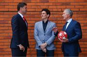 28 May 2019; Virgin Media pundits Niall Quinn, left, Keith Andrews, centre, and Graeme Souness pictured at Virgin Media Television's launch to celebrate Finals Week with live coverage of the UEFA Europa League Final & the UEFA Champions League Final. Virgin Media Television is the home of European Football this week with live coverage of the UEFA Europa League Final on Wednesday 29th May from 6.30pm on both Virgin Media Two & Virgin Media Sport and the UEFA Champions League Final on Saturday 1st June from 6pm on Virgin Media One & Virgin Media Sport. Photo by Ramsey Cardy/Sportsfile