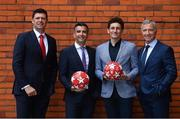 28 May 2019; Virgin Media pundits, from left, Niall Quinn, Keith Andrews and Graeme Souness, with presenter Tommy Martin, second left, pictured at Virgin Media Television's launch to celebrate Finals Week with live coverage of the UEFA Europa League Final & the UEFA Champions League Final. Virgin Media Television is the home of European Football this week with live coverage of the UEFA Europa League Final on Wednesday 29th May from 6.30pm on both Virgin Media Two & Virgin Media Sport and the UEFA Champions League Final on Saturday 1st June from 6pm on Virgin Media One & Virgin Media Sport. Photo by Ramsey Cardy/Sportsfile
