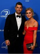 28 May 2019; On arrival at the Leinster Rugby Champions of 2009 Gala Dinner, proudly supported by Bank of Ireland, is Rob Kearney and Jess Redden. The Gala Dinner was held in celebration of Leinster Rugby's first ever Heineken Cup triumph in 2009 when they beat Leicester Tigers 16-19 in the Final in Murrayfield. The squad and coaches from 2009, were celebrated at a Gala Dinner at the RDS, proudly supported by Bank of Ireland and in association with Diageo, InterContinental Dublin and Off The Ball.com. Photo by Ramsey Cardy/Sportsfile
