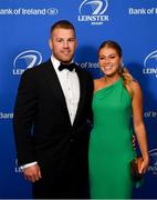 28 May 2019; On arrival at the Leinster Rugby Champions of 2009 Gala Dinner, proudly supported by Bank of Ireland, is Sean O'Brien and Sarah Rowe. The Gala Dinner was held in celebration of Leinster Rugby's first ever Heineken Cup triumph in 2009 when they beat Leicester Tigers 16-19 in the Final in Murrayfield. The squad and coaches from 2009, were celebrated at a Gala Dinner at the RDS, proudly supported by Bank of Ireland and in association with Diageo, InterContinental Dublin and Off The Ball.com. Photo by Ramsey Cardy/Sportsfile
