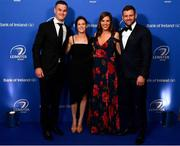28 May 2019; On arrival at the Leinster Rugby Champions of 2009 Gala Dinner, proudly supported by Bank of Ireland, are Jonathan and Laura Sexton, and Rebecca and Fergus McFadden. The Gala Dinner was held in celebration of Leinster Rugby's first ever Heineken Cup triumph in 2009 when they beat Leicester Tigers 16-19 in the Final in Murrayfield. The squad and coaches from 2009, were celebrated at a Gala Dinner at the RDS, proudly supported by Bank of Ireland and in association with Diageo, InterContinental Dublin and Off The Ball.com. Photo by Ramsey Cardy/Sportsfile