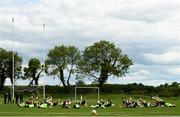 28 May 2019; Players warm up ahead of a Republic of Ireland U21's training session at Johnstown House Hotel in Enfield, Co Meath. Photo by Eóin Noonan/Sportsfile