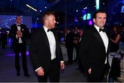 28 May 2019; On arrival at the Leinster Rugby Champions of 2009 Gala Dinner, proudly supported by Bank of Ireland, is Sean O'Brien and Shane Jennings. The Gala Dinner was held in celebration of Leinster Rugby's first ever Heineken Cup triumph in 2009 when they beat Leicester Tigers 16-19 in the Final in Murrayfield. The squad and coaches from 2009, were celebrated at a Gala Dinner at the RDS, proudly supported by Bank of Ireland and in association with Diageo, InterContinental Dublin and Off The Ball.com. Photo by Ramsey Cardy/Sportsfile