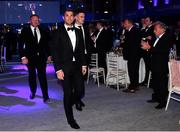 28 May 2019; On arrival at the Leinster Rugby Champions of 2009 Gala Dinner, proudly supported by Bank of Ireland, is Rob Kearney and Jonathan Sexton. The Gala Dinner was held in celebration of Leinster Rugby's first ever Heineken Cup triumph in 2009 when they beat Leicester Tigers 16-19 in the Final in Murrayfield. The squad and coaches from 2009, were celebrated at a Gala Dinner at the RDS, proudly supported by Bank of Ireland and in association with Diageo, InterContinental Dublin and Off The Ball.com. Photo by Ramsey Cardy/Sportsfile