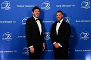 28 May 2019; Shane Horgan and Sean O'Brien during the Leinster Rugby Champions of 2009 Gala Dinner, proudly supported by Bank of Ireland. The Gala Dinner was held in celebration of Leinster Rugby's first ever Heineken Cup triumph in 2009 when they beat Leicester Tigers 16-19 in the Final in Murrayfield. The squad and coaches from 2009, were celebrated at a Gala Dinner at the RDS, proudly supported by Bank of Ireland and in association with Diageo, InterContinental Dublin and Off The Ball.com. Photo by Ramsey Cardy/Sportsfile
