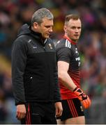 25 May 2019; Mayo manager James Horan and goalkeeper Rob Hennelly during the Connacht GAA Football Senior Championship Semi-Final match between Mayo and Roscommon at Elverys MacHale Park in Castlebar, Mayo. Photo by Stephen McCarthy/Sportsfile