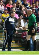 26 May 2019; Wexford manager Davy Fitzgerald and linesman Mick Murtagh during the Leinster GAA Hurling Senior Championship Round 3A match between Galway and Wexford at Pearse Stadium in Galway. Photo by Stephen McCarthy/Sportsfile