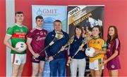 29 May 2019; In attendance at the GPA WGPA GMIT Scholarship Launch are, from left, Mayo footballer James McCormack, Galway hurler Jack Coyne, Damian Curley, GMIT Development Officer, Molly Dunne, GMIT Sports Officer, Leitrim ladies footballer Bronagh O'Rourke, and Galway camogie player Tara Kenny at Galway-Mayo Institute of Technology in Galway. Photo by Piaras Ó Mídheach/Sportsfile