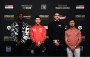 29 May 2019; British boxers, from left, Joshua Buatsi, Josh Kelly, Callum Smith and Tommy Coyle pose during a press conference at Madison Square Garden ahead of their bouts in New York, USA. Photo by Stephen McCarthy/Sportsfile