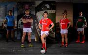 30 May 2019; In attendance at SuperValu GAA Sponsorship Launch 2019 at D-Light Studios in Dublin are, from left,  Bernard Brogan of Dublin, Damien Comer of Galway, Doireann O'Sullivan of Cork, Valerie Mulcahy of Cork and Andy Moran of Mayo. SuperValu today launched their 10th year as sponsor of the GAA Football All-Ireland Senior Championship. Joined by their GAA ambassadors Bernard Brogan, Andy Moran, Damien Comer, Doireann O'Sullivan and Valerie Mulcahy – SuperValu revealed that they will contribute over €2.6 million to the GAA and GAA Clubs across the country, this year. Throughout their 10-years as GAA sponsor, SuperValu has contributed over €18 million to aid the development of our national sport. Photo by Sam Barnes/Sportsfile
