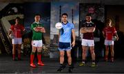 30 May 2019; In attendance at SuperValu GAA Sponsorship Launch 2019 at D-Light Studios in Dublin are, from left, Doireann O'Sullivan of Cork, Andy Moran of Mayo, Bernard Brogan of Dublin, Damien Comer of Galway  and Valerie Mulcahy of Cork. SuperValu today launched their 10th year as sponsor of the GAA Football All-Ireland Senior Championship. Joined by their GAA ambassadors Bernard Brogan, Andy Moran, Damien Comer, Doireann O'Sullivan and Valerie Mulcahy – SuperValu revealed that they will contribute over €2.6 million to the GAA and GAA Clubs across the country, this year. Throughout their 10-years as GAA sponsor, SuperValu has contributed over €18 million to aid the development of our national sport. Photo by Sam Barnes/Sportsfile