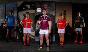 30 May 2019; In attendance at SuperValu GAA Sponsorship Launch 2019 at D-Light Studios in Dublin are, from left,  Bernard Brogan of Dublin, Doireann O'Sullivan of Cork, Damien Comer of Galway Valerie Mulcahy of Cork and Andy Moran of Mayo. SuperValu today launched their 10th year as sponsor of the GAA Football All-Ireland Senior Championship. Joined by their GAA ambassadors Bernard Brogan, Andy Moran, Damien Comer, Doireann O'Sullivan and Valerie Mulcahy – SuperValu revealed that they will contribute over €2.6 million to the GAA and GAA Clubs across the country, this year. Throughout their 10-years as GAA sponsor, SuperValu has contributed over €18 million to aid the development of our national sport. Photo by Sam Barnes/Sportsfile