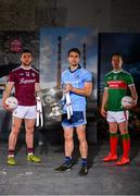 30 May 2019; In attendance at SuperValu GAA Sponsorship Launch 2019 at D-Light Studios in Dublin are, from left, Damien Comer of Galway, Bernard Brogan of Dublin, with the Sam Maguire Cup, and Andy Moran of Mayo. SuperValu today launched their 10th year as sponsor of the GAA Football All-Ireland Senior Championship. Joined by their GAA ambassadors Bernard Brogan, Andy Moran, Damien Comer, Doireann O'Sullivan and Valerie Mulcahy – SuperValu revealed that they will contribute over €2.6 million to the GAA and GAA Clubs across the country, this year. Throughout their 10-years as GAA sponsor, SuperValu has contributed over €18 million to aid the development of our national sport. Photo by Sam Barnes/Sportsfile