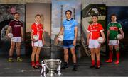 30 May 2019; In attendance at SuperValu GAA Sponsorship Launch 2019 at D-Light Studios in Dublin are, from left, Damien Comer of Galway, Valerie Mulcahy of Cork, Bernard Brogan of Dublin, Doireann O'Sullivan of Cork and Andy Moran of Mayo with the Sam Maguire Cup. SuperValu today launched their 10th year as sponsor of the GAA Football All-Ireland Senior Championship. Joined by their GAA ambassadors Bernard Brogan, Andy Moran, Damien Comer, Doireann O'Sullivan and Valerie Mulcahy – SuperValu revealed that they will contribute over €2.6 million to the GAA and GAA Clubs across the country, this year. Throughout their 10-years as GAA sponsor, SuperValu has contributed over €18 million to aid the development of our national sport. Photo by Sam Barnes/Sportsfile